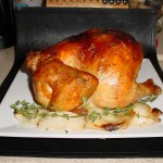 Whole Roasted Chicken with Onions and Thyme