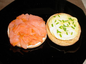 egg and salmon breakfast sandwich open face 6