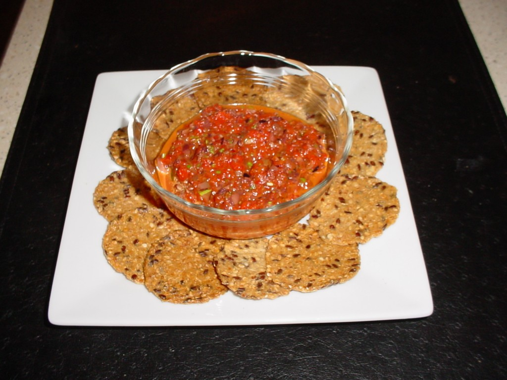 Roasted Red Pepper and Olive Dip