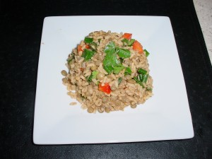 Lentil and Brown Rice salad