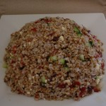 Wheat Berry Salad on Plate